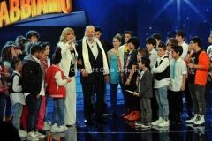 06/04/2013 Roma Puntata Altrimenti ci arrabbiamo, nella foto Milly Carlucci con Bud Spencer