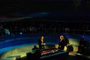 14/11/08 puntata di Anno zero nella foto MIchele Santoro e Marco Travaglio