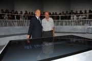 Roma 24/09/2009 Trasmissione Annozero, nella foto Michele Santoro, Vauro