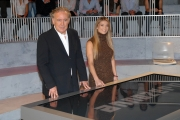 25/09/08 Anno Zero raidue nella foto Michele Santoro e Margherita Grambassi,