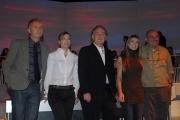 25/09/08 Anno Zero raidue nella foto Michele Santoro e Margherita Grambassi, Vincino ,Marco travaglio, Monica Giandotti