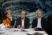 28/02/2016 Roma Lucia Annunziata a IN MEZZ'ORA,presenta i sei candidati alle primarie del PD, nalle foto: Morassut, Rossi, Giachetti, Pedica, Mascia