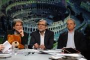 28/02/2016 Roma Lucia Annunziata a IN MEZZ'ORA,presenta i sei candidati alle primarie del PD, nalle foto: Giachetti, Pedica, Mascia