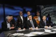 28/02/2016 Roma Lucia Annunziata a IN MEZZ'ORA,presenta i sei candidati alle primarie del PD, nalle foto: Chiara Ferraro, Morassut, Rossi, Giachetti, Pedica, Mascia