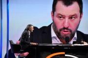 Foto/IPP/Gioia Botteghi Roma03/02/2019 Lucia Annunziata ospita Bernard Henri Levy nella trasmissione mezz'ora in più su rai tre Italy Photo Press - World Copyright