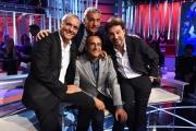 25/09/2016 Roma prima puntata de L'Arena , di Massimo Giellti su rai uno, ospiti Carlo Conti Giorgio Panariello e Leonardo Pieraccioni
