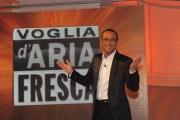 Roma 26/04/2010 prima puntata della trasmissione Aria Fresca, nella foto: Carlo Conti