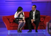 Roma 26/04/2010 prima puntata della trasmissione Aria Fresca, nella foto: Annamaria Barbera con Carlo Conti