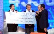 15/12/2013 Roma serata finale Telethon con Carlo Conti Gubitosi e Montezemolo