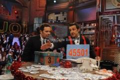 20/12/2015 Roma cifra finale telethon nella trasmissione i fatti vostri, nella foto: Insinna, Alberto Matano