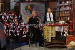 20/12/2015 Roma cifra finale telethon nella trasmissione i fatti vostri, nella foto: Montezemolo Frizzi