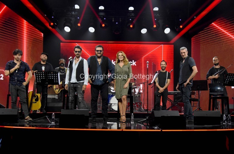Foto/IPP/Gioia Botteghi Roma 31/07/2020 trasmissione radio 2 Back2Back nella foto: Claudia Gerini con l'orchestraccia Italy Photo Press - World Copyright