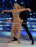 04/10/2014 Roma Ballando con le stelle, nella foto: Katherine Kelly Lang, Simone Di Pasquale