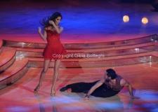 07/01/2012 Roma, Prima punta di BALLANDO CON LE STELLE, nella foto: Ariadna Romero e Mirko Sciolan