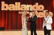 08/04/2017 Roma puntata di ballando con le stelle del 8 aprile, nella foto Marla Maples ex Trump con Milly Carlucci e Paolo Belli