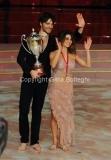 06/12/2014 Roma Finale di Ballando con le stelle , i terzi classificati Giulio Berruti e Samanta Togni