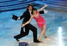 17/03/2012 Roma, Puntata finale di Ballando con le stelle, nella foto : Marco del Vecchio e Saira Di Vaira