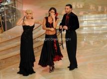 17/03/2012 Roma, Puntata finale di Ballando con le stelle, nella foto : Anna Tatangelo e Stefano Di Filippo quarti classificati