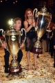 Foto/Gioia Botteghi 19/05/2018 Roma, Serata finale di Ballando con le stelle, nella foto: i vincitori, Cesare Bocci e Alessandra Tripoli con Carolyn Smith e Fabio Canino  Italy Photo Press - World Copyright