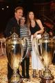Foto/Gioia Botteghi 19/05/2018 Roma, Serata finale di Ballando con le stelle, nella foto: i vincitori, Cesare Bocci  con  Daniela Spada e Mia Bocci  Italy Photo Press - World Copyright