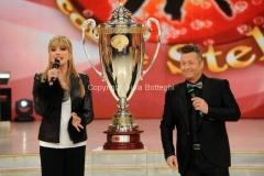 07/12/2013 Roma ultima puntata di Ballando con le stelle, nella foto: Milly Carlucci e Paolo Belli