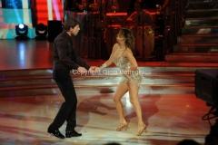 07/12/2013 Roma ultima puntata di Ballando con le stelle, nella foto: Roberto Farnesi e Samanta Togni