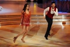 07/12/2013 Roma ultima puntata di Ballando con le stelle, nella foto: Lea T e Simone Di Pasquale