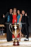 07/12/2013 Roma ultima puntata di Ballando con le stelle, nella foto: i vincitori Elisa Di Francisca e Raimondo Todaro con Milly Carlucci e Paolo Belli