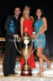 07/12/2013 Roma ultima puntata di Ballando con le stelle, nella foto: i vincitori Elisa Di Francisca e Raimondo Todaro con Milly Carlucci