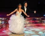 Roma 9/01/2010 prima puntata di BALLANDO CON LE STELLE, nella foto: Ronn Moss e Sara Di Vaira