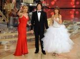 Roma 9/01/2010 prima puntata di BALLANDO CON LE STELLE, nella foto: Milly Carlucci con Ronn Moss e Sara Di Vaira