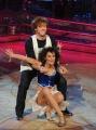 Roma 9/01/2010 prima puntata di BALLANDO CON LE STELLE, nella foto: Stefano Masciolini e Alessandra Mason