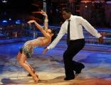 Roma 9/01/2010 prima puntata di BALLANDO CON LE STELLE, nella foto: Carl Lewis e Nancy Berti