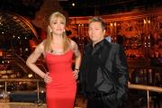 Roma 9/01/2010 prima puntata di BALLANDO CON LE STELLE, nella foto: Milly Carlucci e Paolo Belli