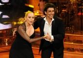 Roma 9/01/2010 prima puntata di BALLANDO CON LE STELLE, nella foto: Barbara de Rossi e Simone Di Pasquale