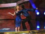 Roma 9/01/2010 prima puntata di BALLANDO CON LE STELLE, nella foto: Maria Concetta Mattei e Roberto Imperatori