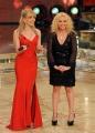 Roma 9/01/2010 prima puntata di BALLANDO CON LE STELLE, nella foto: Milly Carlucci con Antonella Clerici