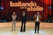 25/02/2017 Roma Prima puntata di Ballando con le stelle, nella foto: Milly Carlucci e Paolo Belli con Roberto Mancini