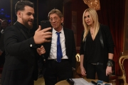 25/02/2017 Roma Prima puntata di Ballando con le stelle, nella foto: Roberta Bruzzone e Sandro Mayer con Valerio Scanu