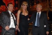10/1/2009 Roma tresmissione BALLANDO CON LE STELLE nella foto: Milly Carlucci Paolo Belli Paolo De Andreis