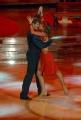 10/1/2009 Roma tresmissione BALLANDO CON LE STELLE nella foto: Maurizio Aiello e Sara Di Vaira