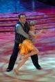 10/1/2009 Roma tresmissione BALLANDO CON LE STELLE nella foto: Andrea Roncato e Vicky Martin