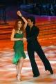 10/1/2009 Roma tresmissione BALLANDO CON LE STELLE nella foto: Metis Di Meo e Simone Di Pasquale