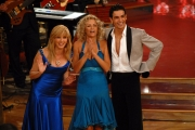 29/09/07 Prima puntata di BALLANDO CON LE STELLE, nelle foto: Licia Colò con Raimondo Todaro e Milly Carlucci