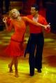 29/09/07 Prima puntata di BALLANDO CON LE STELLE, nelle foto: Catherine Spaak con Benedetto Capraro