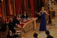 24/03/2012 Roma, prima puntata di Ballando con te, nella foto: Milly Carlucci e la giuria