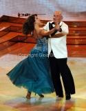 24/03/2012 Roma, prima puntata di Ballando con te, nella foto: Franco Sperati e Vicky Martin