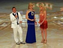 24/03/2012 Roma, prima puntata di Ballando con te, nella foto: Milly Carlucci , Paolo Belli, Ria Antoniou