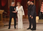 Foto/Gioia Botteghi 07/04/2018 Roma,  quinta puntata di Ballando con le stelle 2018, nella foto  Giovanni Ciacci, Raimondo Todaro Milly Carlucci e Ivan Zazzaroni  Italy Photo Press - World Copyright