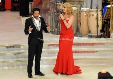 05/10/2013 Roma Ballando con le stelle , nella foto Milly Carlucci e il nuovo giurato Raffaello Amargo